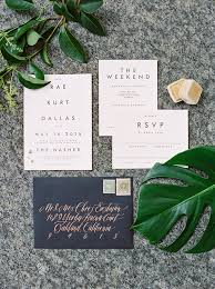 wedding invitations dallas modern minimalist dallas wedding ruffled