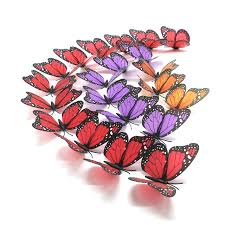 aliexpress com buy sparkle beautiful 3d butterfly wall stickers