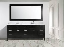 84 sink vanity set in espresso finish bathroom