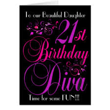 daughters 21st birthday greeting cards zazzle