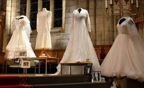 display wedding dress 100 dress display showcases generations of weddings at st