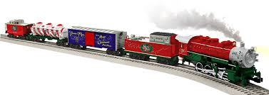 amazon com lionel santa u0027s flyer ready to run train set o gauge