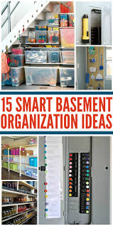 extremely creative organize basement this part of the shelving