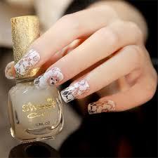 Nail Decorations 3d White Lace Flower Rhinestone Nail Art Stickers Wedding Nail