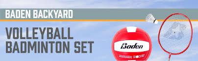 baden champions series outdoor combo badminton volleyball set