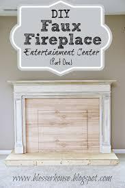 simple faux fireplace mantel diy room design decor modern in faux