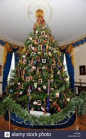 the official white house christmas tree is displayed in the blue
