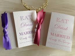 Eat Drink And Be Married Invitations Square Gatefold Wedding Invitations From 1 25 Each