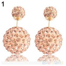 two sided earrings aliexpress buy women s rhinestone two sided ear