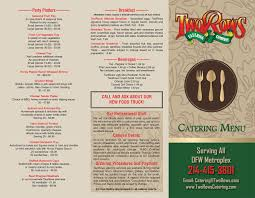 catering menu tworows classic grill allen tx restaurant