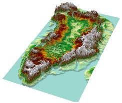 Topographical Map Of Oregon by Topographic Map Of Greenland From Bedrock Elevation Data 1246 X