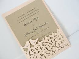 bird wedding invitations bird laser cut wedding invitations