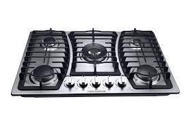30 Stainless Steel Gas Cooktop 30 In Gas Cooktop In Stainless Steel With 5 Burners Including A