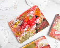 diy handmade artsy christmas cards