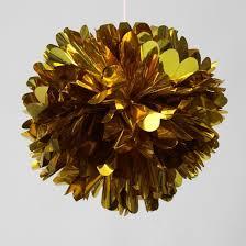 gold mylar tissue paper aliexpress buy 12pcs 12 inch metallic gold tissue paper pom