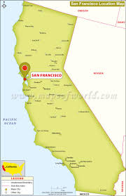 san francisco map of usa where is san francisco located in california usa