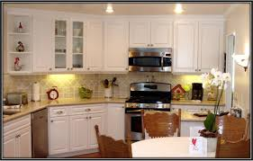 Led Backsplash Cost by Minimalist Kitchen With White Painted Laminate Kitchen Cabinet Las