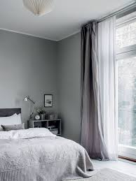 Curtains For Grey Walls Soothing Grey Walls In Bedroom Scandinavian Style