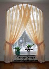 Window Curtains Design Arched Window Drapery Ideas Arched Windows Curtains On Hooks