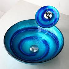 Cool Sink Faucets Bathroom Cool Bathroom Design Idea With Blue Round Bowl Sink And