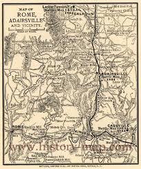 Ga Counties Map Bartow County Ga