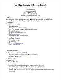 resume exle for receptionist resume for front desk receptionist sle