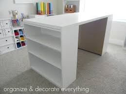 Ikea Kids Table Adjustable Make Your Own Diy Craft Table Using Inexpensive Pieces Organize