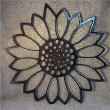 wall art ideas design made sixteen metal sunflower wall art