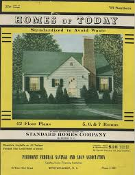 homes of today standardized to avoid waste 1940s house plans