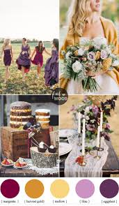 autumn colours wedding theme different shades of purple u0026 warm