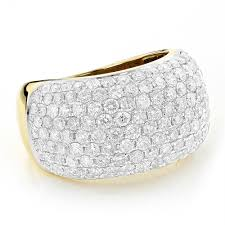 rings pave images Pave diamond rings 14k gold round diamond band 4 ct jpg
