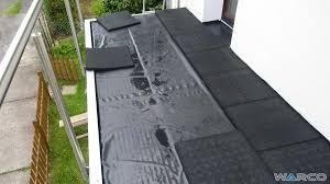 wohnzimmerz bodenbelag balkon with einbau auf bitumenbahn oder - Balkon Bodenbelã Ge