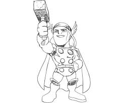 Cute Little Thor Coloring Page Netart Thor Coloring Page