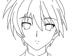 anime boy coloring page free printable coloring pages within anime