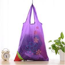 eco bag purple flower eco storage handbag strawberry foldable