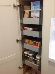 Kitchen Cabinets With Pull Out Drawers Utrusta Pull Out Shelf Ikea Makes It Easier To Reach And Use Your