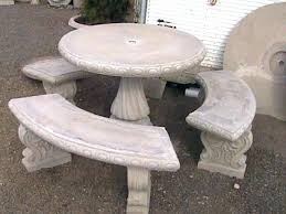 cement table and bench garden bench concrete garden bench and seat pads cement garden bench