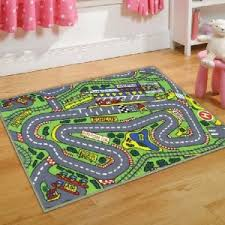 childrens formula one playmat roadmap toy cars wheels bedroon