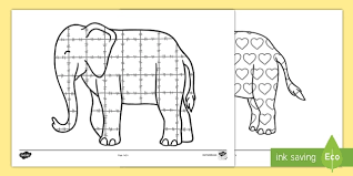 Elmer The Patchwork Elephant Story - patterns colouring sheets to support teaching on elmer elmer