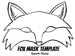 fox mask template our potluck family