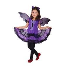 Halloween Costumes Kids Girls Xl Fantasia Girls Halloween Vampire Costumes Kids Bat Cosplay