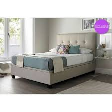 4ft bed walkworth 4ft small double oatmeal ottoman storage bed