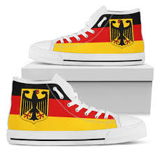 The Germany Flag Awesome German Flag With The German Eagle Casual Canvas Shoes