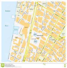 New York City Manhattan Map by Map Downtown Manhattan World Trade Center New York City Stock