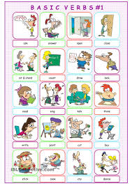 basic verbs picture dictionary 1 poon pinterest picture