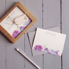 personalized notecards personalized stationery set of 20 floral watercolor notecards