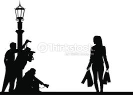 paparazzi clipart célébrités et paparazzi sur la rue silhouette clipart vectoriel