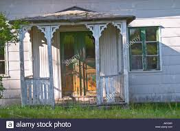 veranda art deco traditional style swedish wooden painted house a door fading