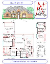 2 Story 4 Bedroom Floor Plans by House Plan 2463 144 Traditional Stone Front Elevation 2463