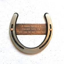 lucky in horseshoe heart hang on wall in stock already